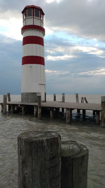 What a view Postcard Picture Best EyeEm Shot Wolken Lighthouse Striped Built Structure Outdoors