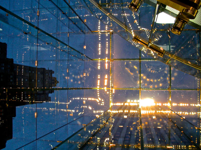 Architecture Background Photography Built Structure City Sky Cityscape Close-up Glass Ceiling Illuminated Look Up And Thrive No People NYC Photography Reflections Sky Skyscaper Technology The Cube Transparency Innovation Future Vision Presentation Background