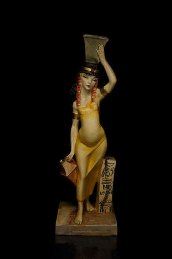 Black Background Close Up Egypt Egyptian Figurine  Light Box Light Tent Low Key Miniature Servant Still Life