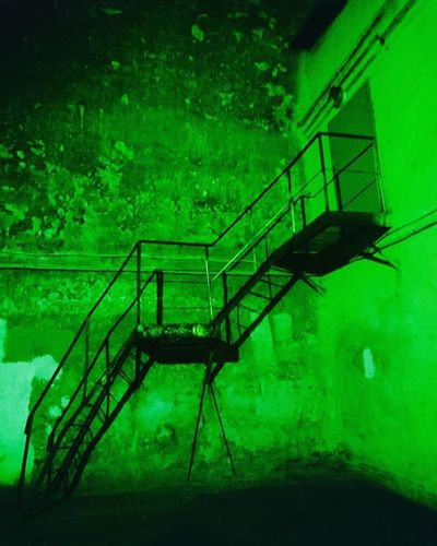 WHPnocturnal Green Wall Stairs Ladder Light