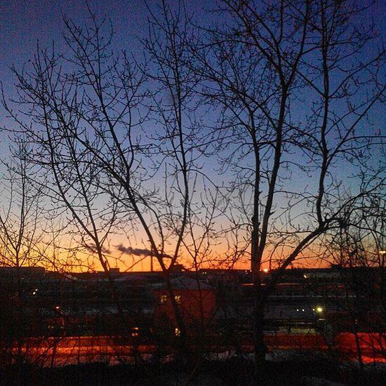 Февраль. 7.30. Februaru. 7.30 AM. Omsk Siberia Frostandsun Sunrise Friday Morning 7 30 Industrialsunrise омск сибирь мороз утро восход индустриальный рассвет