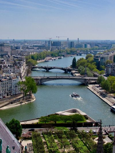 Another day in Paris Greenery Bridges River View River Paris View From Above City View  Building Exterior Architecture City Built Structure Water Cityscape High Angle View Sky Nature Building Travel Destinations Day No People Outdoors Modern Tree