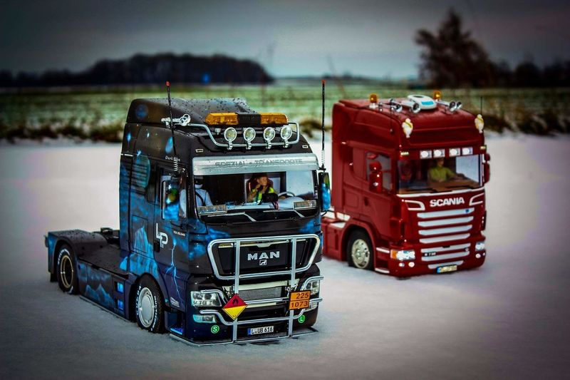 Snow Truck Showtruck SCANIA POWER Scania Man Airbrush It's Cold Outside