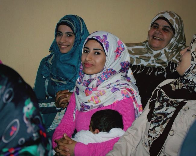 Looking At Camera Family Females Hijab Cultures Capture The Moment Syria  Motherhood