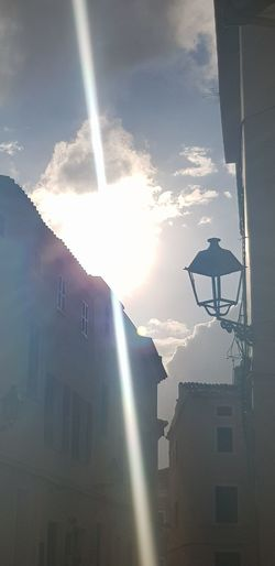 Sun Beam From Cloud Clouds And Sky Sky And Clouds Old Town Street Lamp Old Buildings