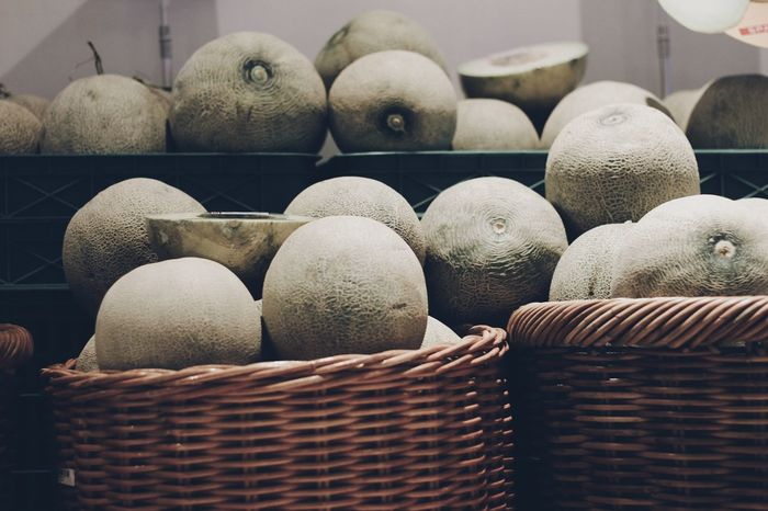 Melons Fruit Fruit Photography Market Watermelon EyeEm Selects Basket Food No People Day Outdoors Close-up Freshness