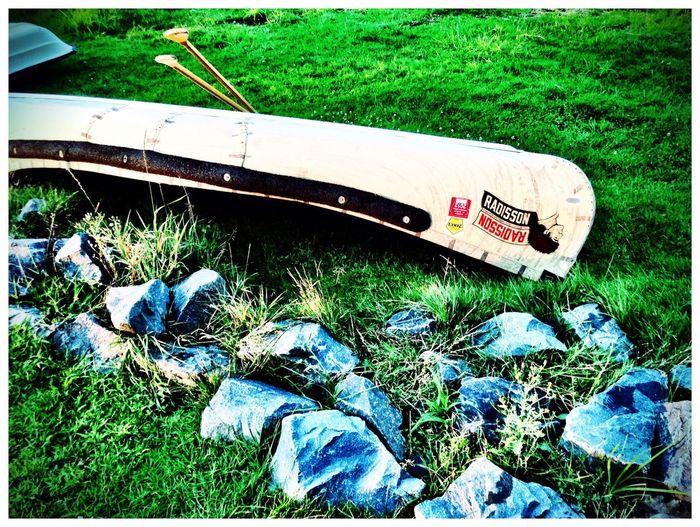 Grass Travel Outdoors Boat Canoe Lake Rock First Eyeem Photo