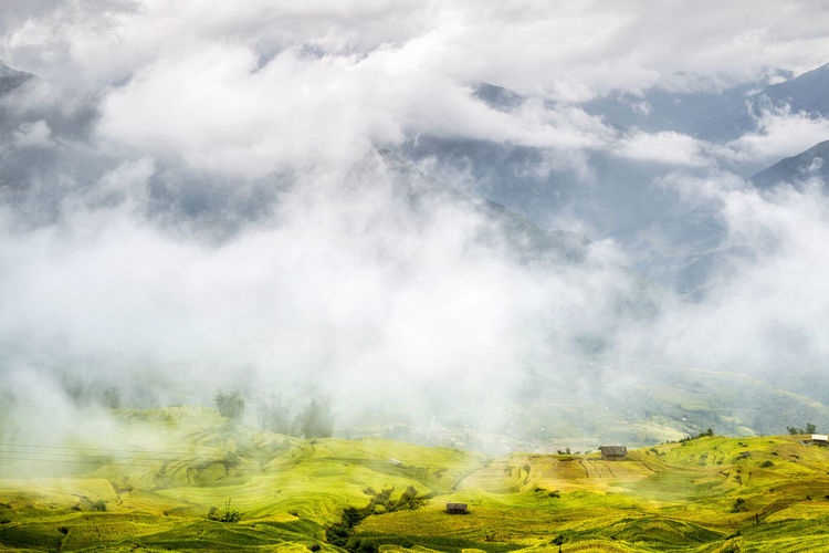 Terraced fields in the clouds Best In Nature CloudPhotography Laocai Vietnam Nature Photography Photography Vietnamlanscape Vietnamphotography Vietnamtravel