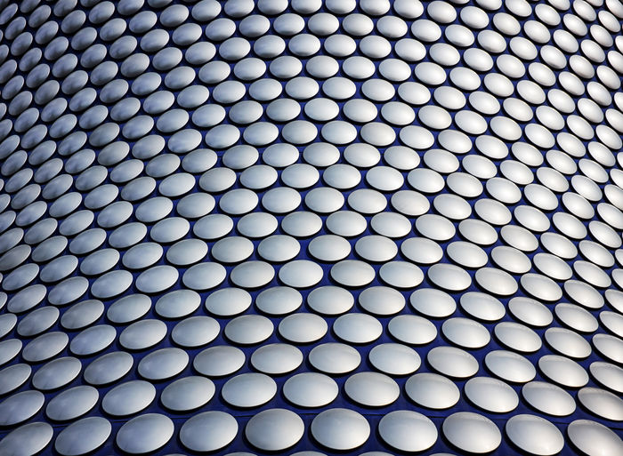 Selfridges Birmingham . UK . Abstract Photography Art Architecture_collection Architecture Textured Effect Ceiling Alloy Steel Silver Colored Hole Hexagon Grid Abundance Modern Abstract Technology Repetition Indoors  Metal Design Close-up No People Full Frame Geometric Shape Circle Shape Textured  Pattern Backgrounds Circles In Circles Circles Pattern Designer  My Best Photo British Culture