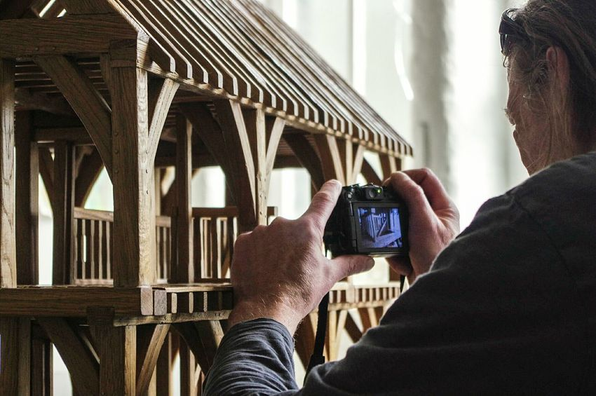 Close-up Holding Photography Themes Adult One Person Indoors  Photographing Human Hand Carpenter Carpentry Craftsmanship  Craft Building Timber House Miniature Mill Indoor Photography Art Is Everywhere Interior Views Indoors  Buildings Interior Style The Secret Spaces EyeEm Diversity