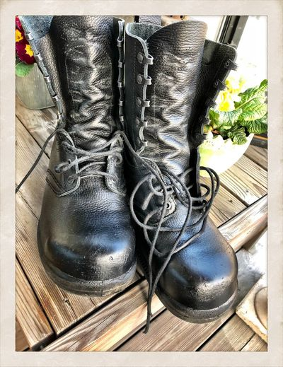 Army boots Army Boots Boots Shoe Transfer Print Auto Post Production Filter No People Close-up Boot Body Part