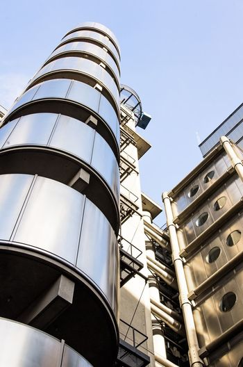 Lloyds building, London Architecture Low Angle View Built Structure Building Exterior No People Day Storage Tank Factory Outdoors Clear Sky Sky LloydsBuilding Lloyds Building London