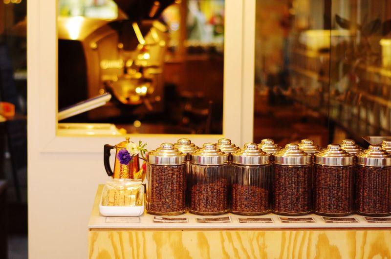 Coffee Beans In Jars