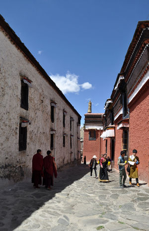 Tibetan buddhist monastery in Shigatse Architecture Buddhist Monastery Day Monastery Monk  Outdoors Shigatse Sky Temple Tibet Tibet Travel Tibetan  Tibetan Buddhism Tranquility Travel Travel Destinations
