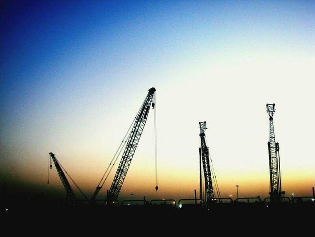 Sunset Industry Silhouette Sky Outdoors No People City Life Dubai EyeEmNewHere WhileIAmOnMove Dubailife Urban Skyline