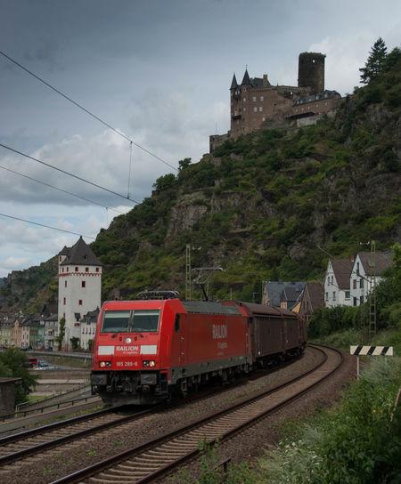 Burg Katz Deutsche Bahn Eisenbahn Railway Rhein St. Goarshausen