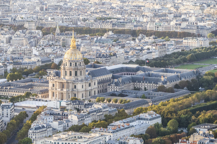 Aeria view of les invalides in paris