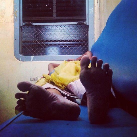 SleepyFeet. Feet Feetobsession Commuter Instacapture train sleeping woman snooze sleepyfeet zzz pose poser instalike instapic instamumbai travel instatravel window onthego blue night shadowplay instamood