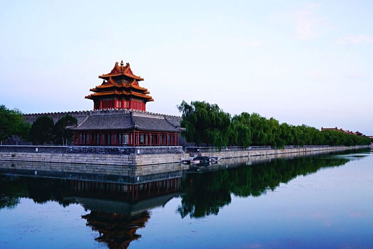GuGong Reflection Architecture Travel Destinations Built Structure History Sky Lake
