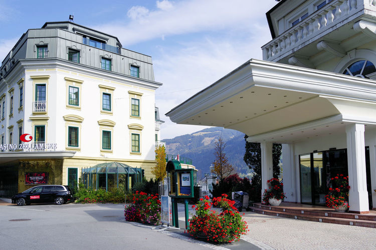 Zell am See resort in Austria, Europe Zell Am See Austria Travel Travel Destinations Travel Photography Architecture Architecture_collection Building Building Exterior Landmark City Cityscape Cityscape Photography Cityscapes_collection Sun Sunny