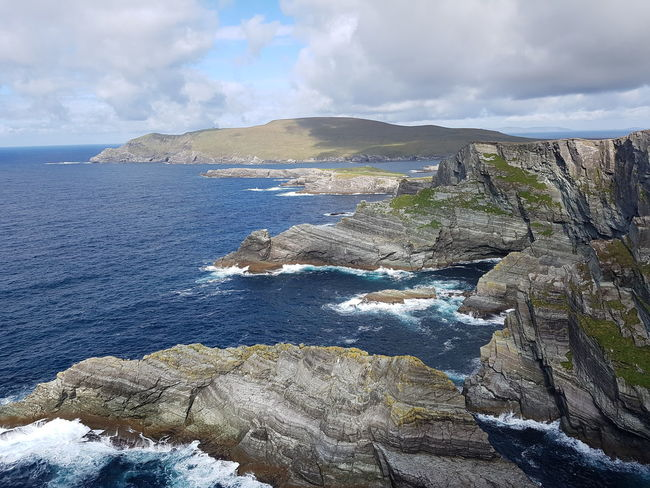Rugged landscape of Kerry Cliffs, County Kerry, Ireland. Landscape Rugged Beauty Nature Sea Ocean Cliff Travel Destination Ireland