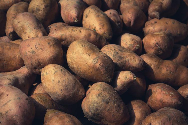 Full frame shot of potatoes
