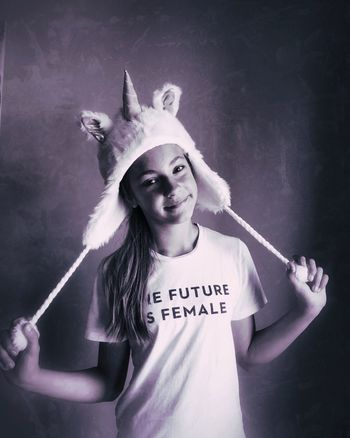 Portrait Unicorn The Future Is Female Dressing Up Shootermag EyeEm Best Shots Bw_collection Blackandwhite Fine Art Photography