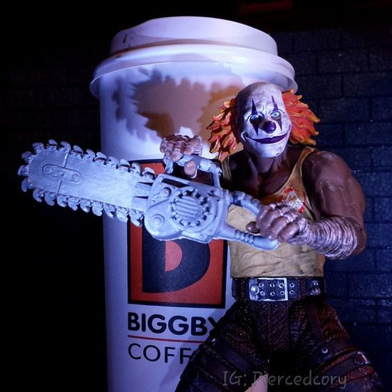 I haven't finished my coffee yet! You can come back, or you can talk to my friend in the meantime. Your move! Biggbycoffee  Happymonday  Coffeeordeath