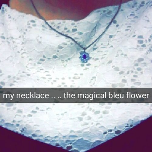 Bleuflower Magicalflower Flowerslegend Necklace Admiration Fairygodmother Snap Whitetshirt Peacful Oklm Like4like Whatsahashtag