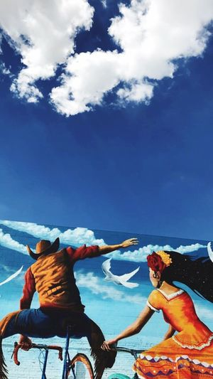 Breathing Space Sky Cloud - Sky Day Men Real People Togetherness Outdoors Water Nature Mountain Lifestyles Nautical Vessel Sea Sitting Beauty In Nature Friendship People Tucson Arizona  Arizona Wall Art Wall Art