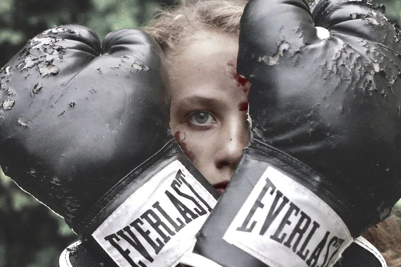 Boxer Evocative Freedom Girl Power One Person Portrait Young Adult Looking At Camera Real People Lifestyles Women Text Headshot Young Women Girls Outdoors Close-up Communication