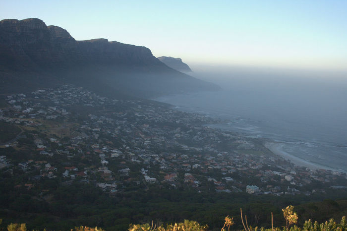 Adventure Cape Town City Hiking Lions Head Mountains Ocean Outdoors Sign Table Mountain View From The Top