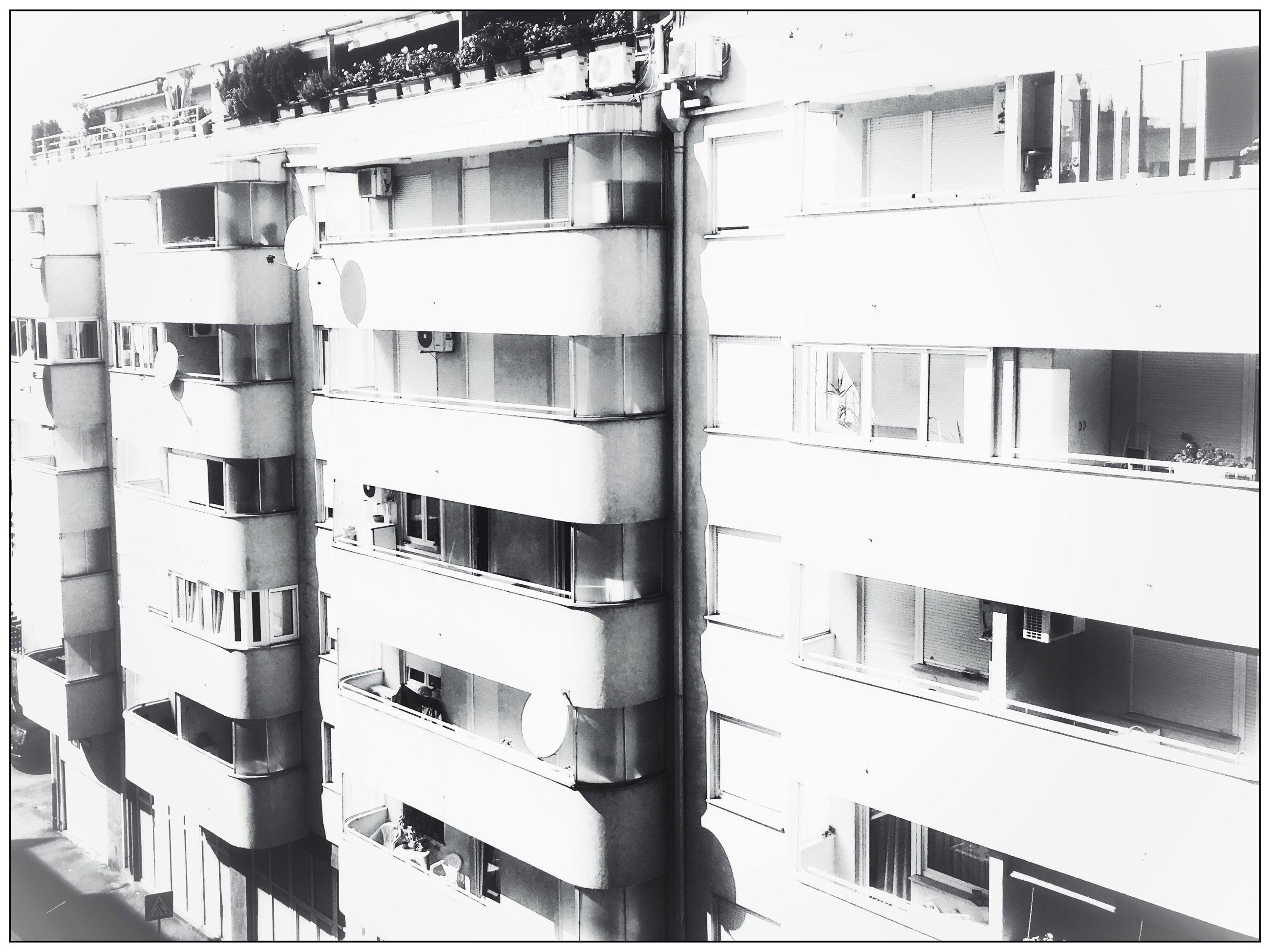 WINDOW OF APARTMENT BUILDING