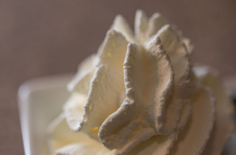 Close-up of whipped cream