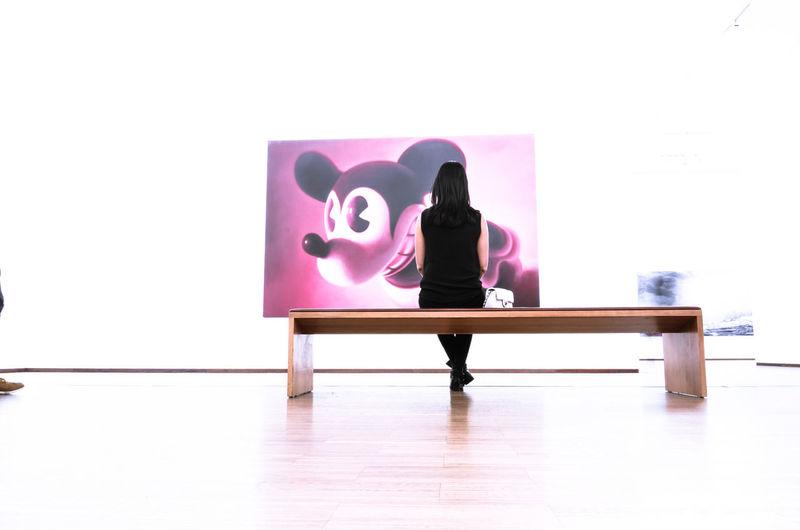 Contemporary art Moodygrammer Longexposurephotography Art Gallery Artworkoftheday Photography Gottfried Helnwein Kunstwerk Kunstmuseum Galerie Albertina Art Museum Millennial Pink