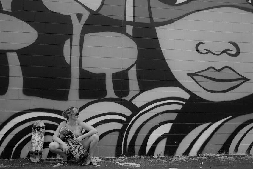 Creativity Day EyeEm Best Shots EyeEmNewHere Female Fresh On Eyeem  Graffiti Art Skateboarding Skatelife Skater Chick Sport In The City Sports Photography Urbanphotography Welcome To Black