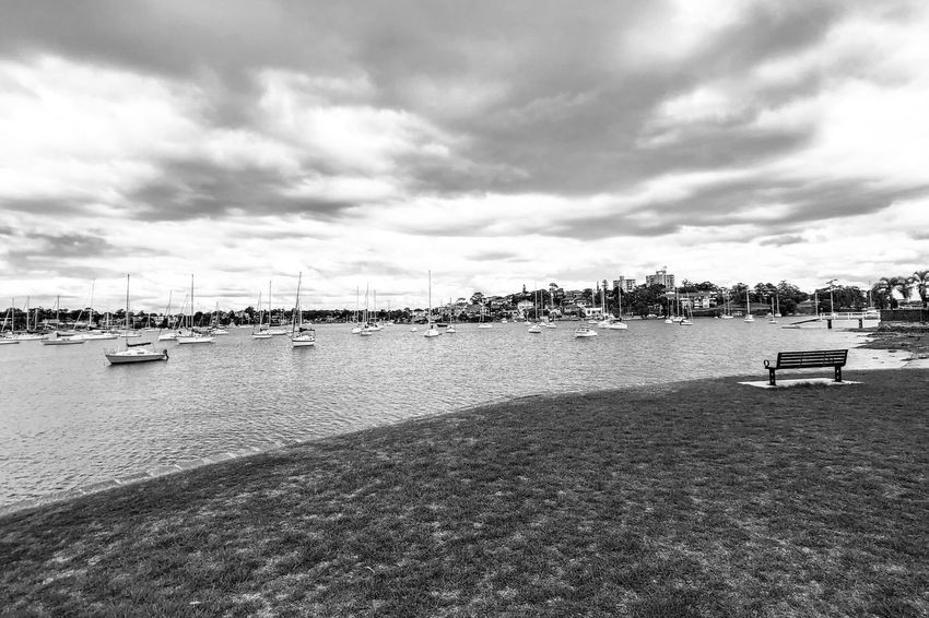 The coast Light And Shadow Black And White Monochrome Water Sky Sea Cloud - Sky Beach Day Sand Outdoors Nautical Vessel Nature Built Structure Harbor City Beauty In Nature Architecture No People