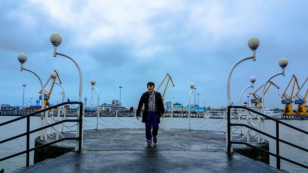Bandar Anzali - Gilan Province -Iran / Full Length Day One Person Cloud - Sky People Seaport Seaport District Iran Photography Mobile Photography Outdoors Finding New Frontiers Travel Travel Photography