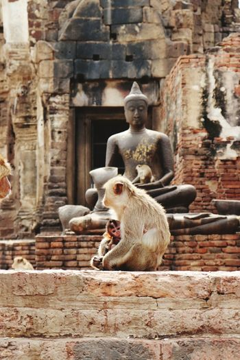 PRANG SAM YOD Sculpture Ancient Civilization Statue Place Of Worship Religion Ancient History Old Ruin Spirituality King - Royal Person