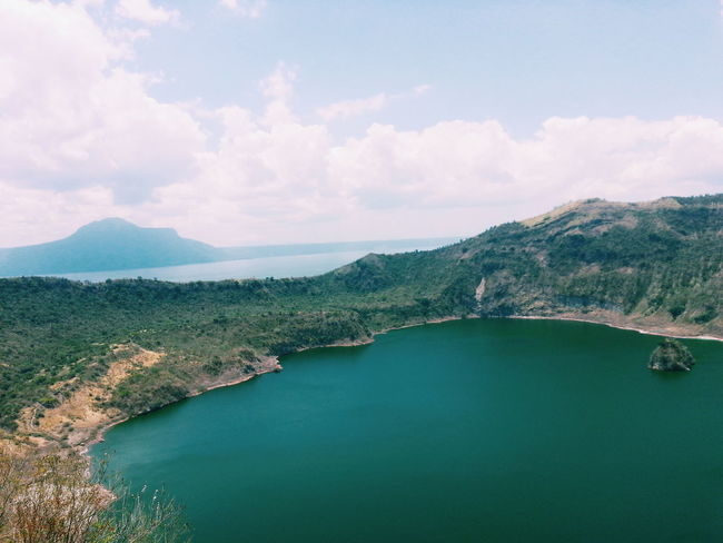 Check This Out Taal Lake Green Clouds Sky Blue Taal Volcano Taal Tagaytay Philippines Bluesky Horizon Manila, Philippines Water