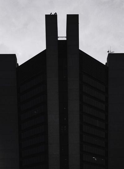 Modern office building against sky