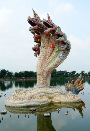 Art Beautiful Believe Crafts Design Handicraft Handwork No People Outdoors Religion Sculpture Sky Statue Thailand Water