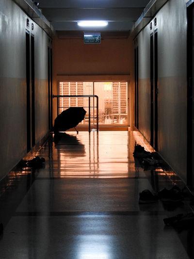 View of an empty corridor