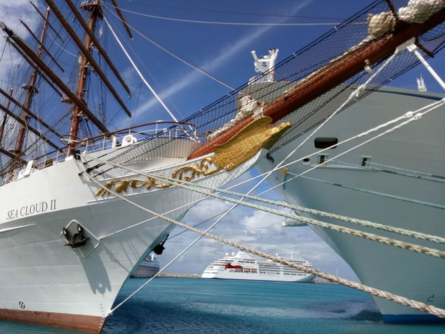 Nautical Vessel Low Angle View Sailing Ship Sport No People Sky Outdoors Day Water Fish-eye Lens cruise ship travel destinations My Year My View Travel Destinations My Photos❤ Transportation Vessel Cruise Ship Clear Sky Blue Sailboat Sailing Ship