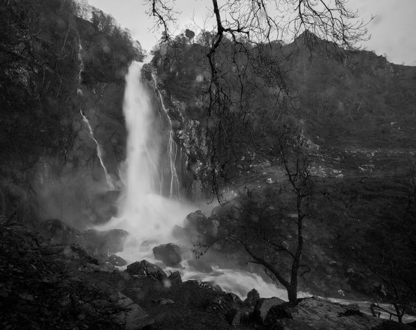Aber Falls, Abergwyngregyn, North Wales, after heavy rain. Blackandwhite Countryside Landscape Majestic Monochrome Natural Beauty Nature North Wales Physical Geography Power In Nature Powerful Rain Rural Environment Rural Scenes Speed Water Waterfall Weather
