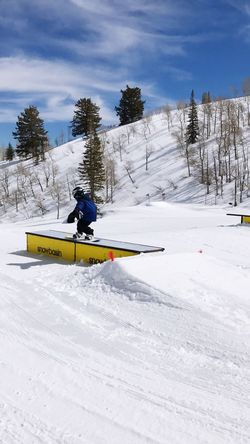 Snowbasin snowboarding Snow Winter Sport Cold Temperature One Person Real People Extreme Sports Snowboarding Snowbasin
