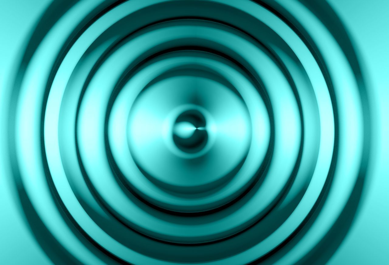 Background music waves in blue Background Sound Wave Waves, Ocean, Nature Blue Circle Geometric Shape Shape No People Pattern Backgrounds Design Spiral Abstract Concentric Turquoise Colored Music Tecno