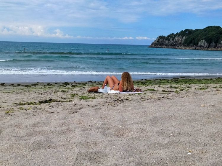 ..and on her day off WomeninBusiness Beach Beach Photography One Woman Only Rear View Seaweed Bikini Blonde Woman Outdoor Photography Ocean View Surf Relaxing New Zealand Tauranga NZ Colour Image Wanderlust A Moment Of Zen... Engage Your Senses Soul Nourishment Beauty Clouds Peace And Quiet Landscapes With WhiteWall The KIOMI Collection