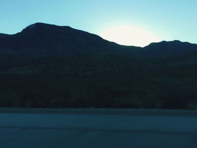 Sunset Mountain Clear Sky Beauty In Nature El Paso Tx Franklin Mountains