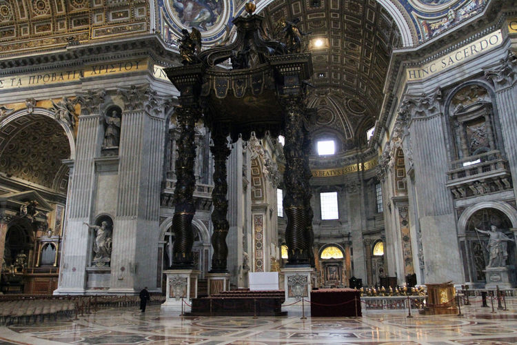 St. Peters Basilica Architectural Column Architecture Belief Building Building Exterior Built Structure City Fresco History Mural No People Ornate Place Of Worship Religion Spirituality The Past Tourism Travel Travel Destinations